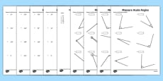 Year 5 Geometry Shape Draw and Measure Angles Maths Mastery Activities Activity Sheet Pack