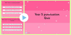 Year 5 Punctuation PowerPoint Quiz