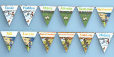 Months of the Year Display Bunting Gaeilge