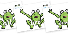 Tricky Words on Frogs