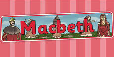 Macbeth Display Banner