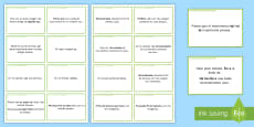 General Conversation: Me, My Family and Friends Question Prompt Cards Spanish