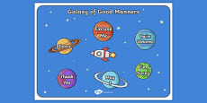 Galaxy of Good Manners Display Posters