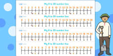 The Farmer and His Sons Number Lines 0-20