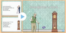 Grandfather's Clock Song PowerPoint