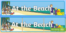 * NEW * At the Beach Display Banner