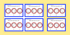 Year 2 Maths Time Challenge Cards