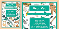 Veo Veo Song Game Poster Spanish