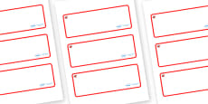 Ruby Red Themed Editable Drawer-Peg-Name Labels (Blank)
