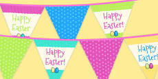 Easter Party Happy Easter Bunting