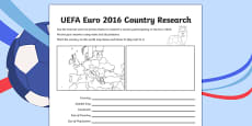 Football UEFA Euro 2016 World Cup Country Fact File (European Championships 2016)