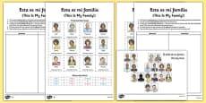 Esta es mi familia Spanish Activity Sheet