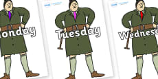 Days of the Week on Mrs Trunchbull to Support Teaching on Matilda