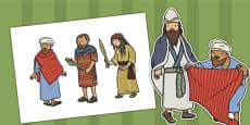 The Good Samaritan Stick Puppets