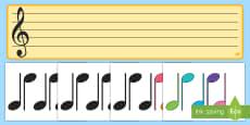 * NEW * Portativul și notele muzicale Planșă interactivă