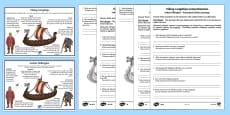 Viking Longships Information and Comprehension Activity English/Polish