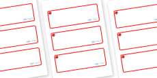 Poppy Themed Editable Drawer-Peg-Name Labels (Blank)