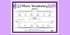 Music Vocabulary Display Poster