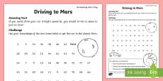 Driving to Mars Activity Sheet