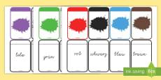 Farben Memory Karten