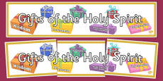Gifts of the Holy Spirit Display Banner