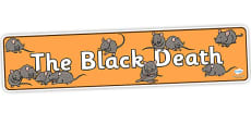 The Black Death Display Banner