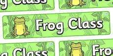 Frog Themed Classroom Display Banner