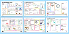 * NEW * Year 2 Maths Activity Mat Activity Pack