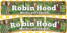 Robin Hood Myths Legends Display Banner