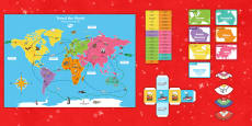* NEW * Christmas Around the World Board Game English/Portuguese