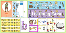* NEW * EYFS Music and Listening Area Classroom Set Up Pack