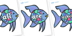 Tricky Words on Rainbow Fish to Support Teaching on The Rainbow Fish