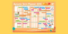 Autumn Term 2015 Calendar Planner