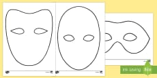 Doodle Draft Masks Activity Sheet