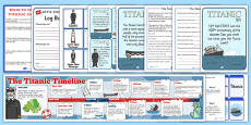 The Titanic Lapbook Creation Pack