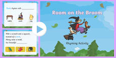 Rhyming Activity PowerPoint to Support Teaching on Room on the Broom