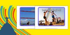 Rio 2016 Olympics Beach Volleyball Display Photos