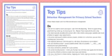 Behaviour Management Tips For Primary Teachers
