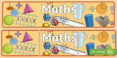 * NEW * Maths Display Banner English/Mandarin Chinese