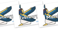 Months of the Year on Egyptian