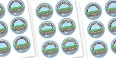 Road Safety Walking Bus Badges