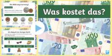 Converting Euros to Pounds PowerPoint - German / Deutsch German / Deutsch