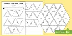 What Is a Proper Noun? Tarsia Puzzle Activity