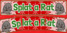 Christmas Themed Splat a Rat Banner
