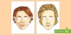 Romeo and Juliet Role Play Masks