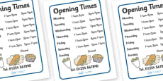 Fish And Chip Shop Role Play Opening Times