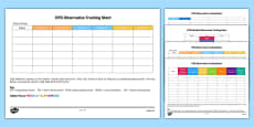 EYFS Observation Tracking Sheets Pack (Editable)