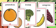 Fruit and Vegetable Display Posters Polish