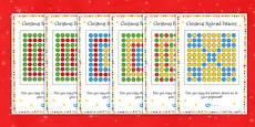 Christmas Peg Board Pattern Cards