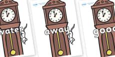 Next 200 Common Words on Clocks